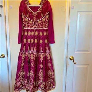 Dresses & Skirts - Fuchsia Anarkali Skirt Style Dress